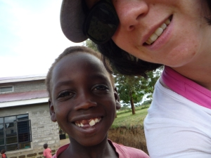 At the Kenyan orphanage.
