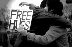A conditional hug